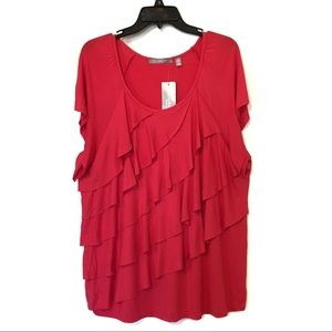 NWT NY Collection Pink Top Size 1X